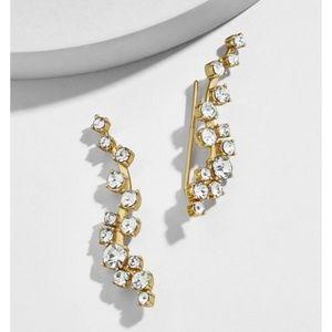 Baublebar Jewelry - Baublebar Rose Gold Crystal Ear Crawler Earrings